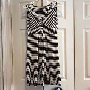 Style & Co. Navy & White Striped Dress